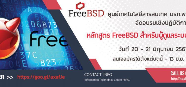 <strong>โครงการอบรมเชิงปฏิบัติการ หลักสูตร FreeBSD สำหรับผู้ดูแลระบบเบื้องต้น</strong>