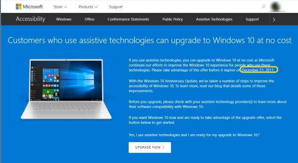 <strong>Microsoft เตรียมปิดอัปเกรด Windows 10 ฟรี ช่วงสิ้นปี 2017 นี้</strong>